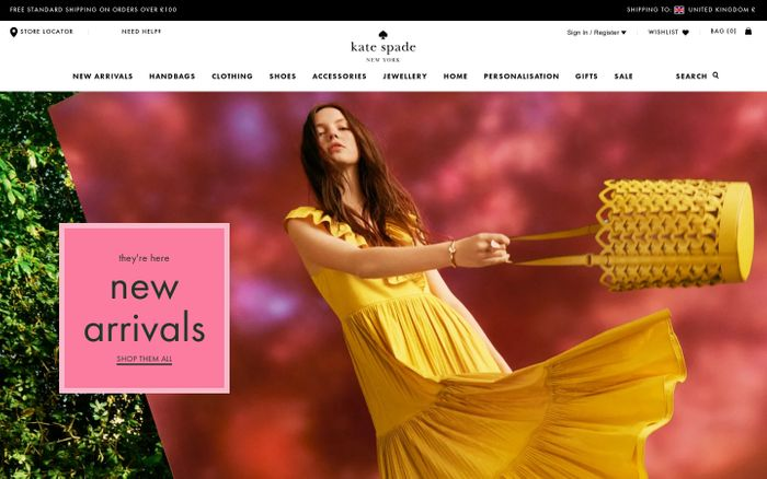 Screenshot of Kate Spade New York | Handbags, Clothing & Accessories