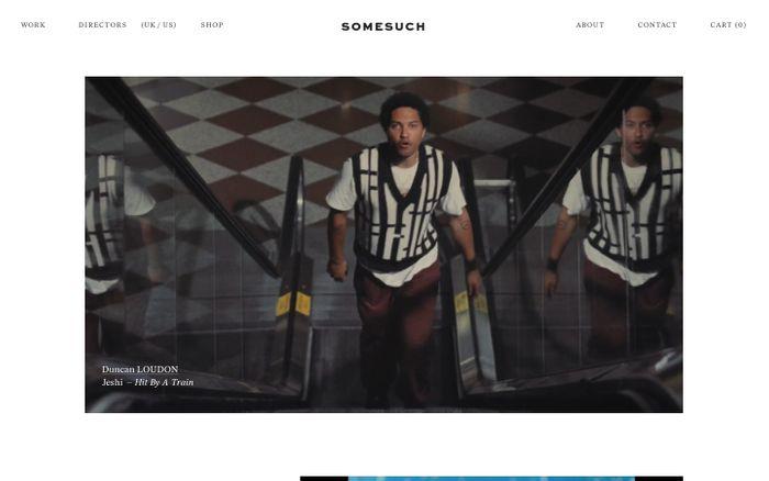 Screenshot of Somesuch website