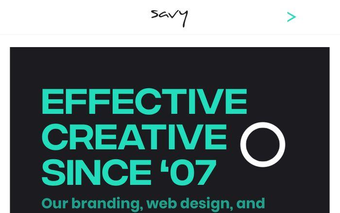 Screenshot of Branding, Web Design, Digital Marketing Agency | Savy Agency