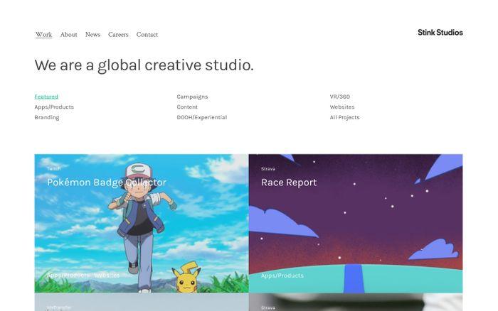 Screenshot of Stink Studios