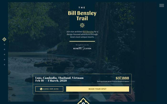 Screenshot of Bill Bensley | Remote Lands