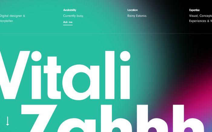 Screenshot of Vitali Zahharov website