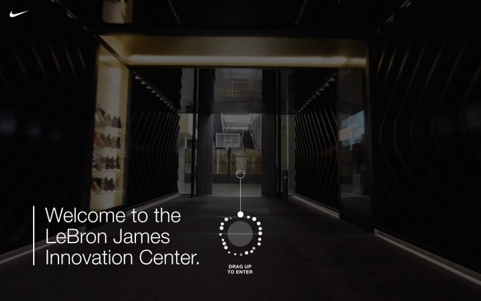 Screenshot of LeBron James Innovation Center website