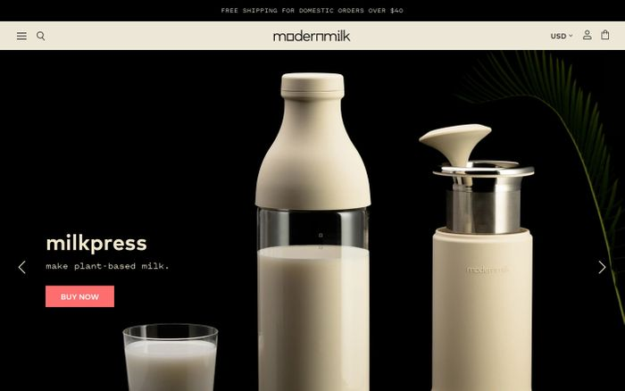 Screenshot of ModernMilk