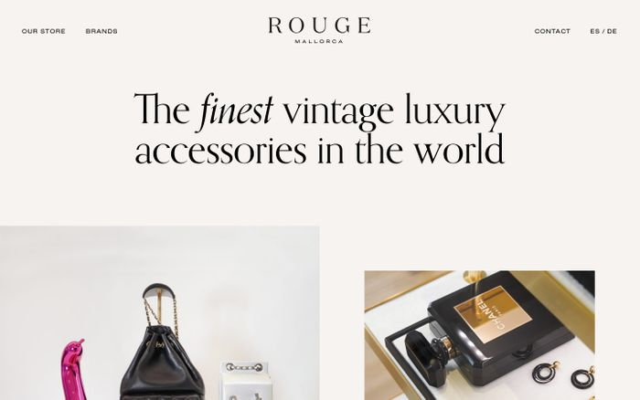 Screenshot of Rouge | The finest vintage luxury accessories in the world