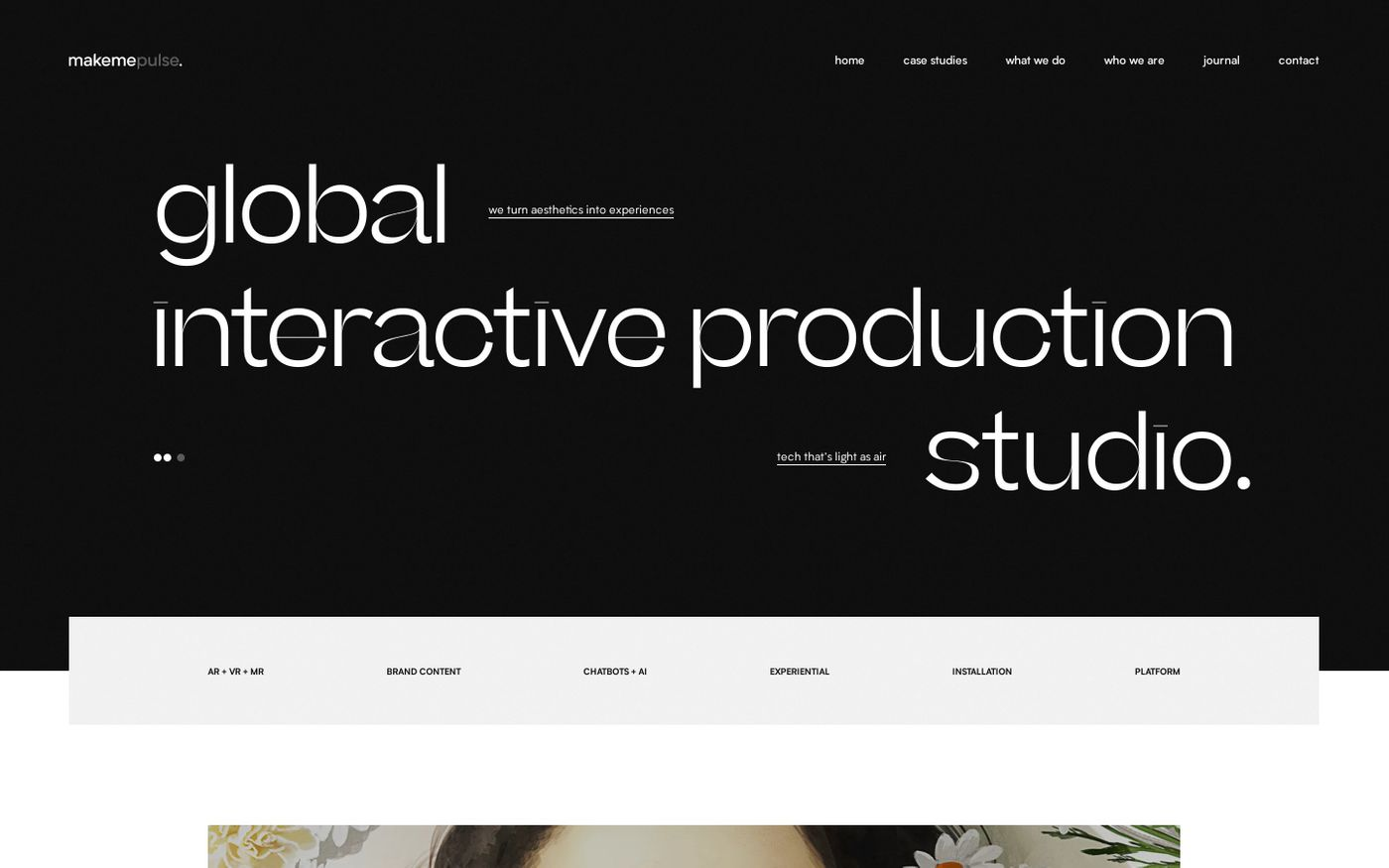 Screenshot of Makemepulse website
