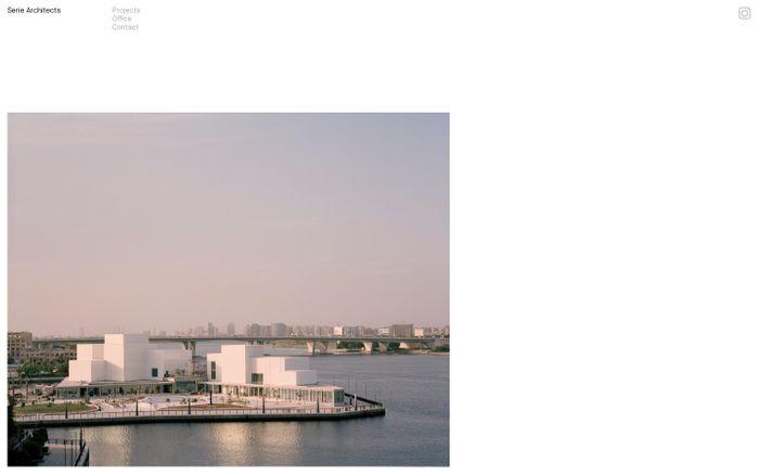 Screenshot of Serie Architects website