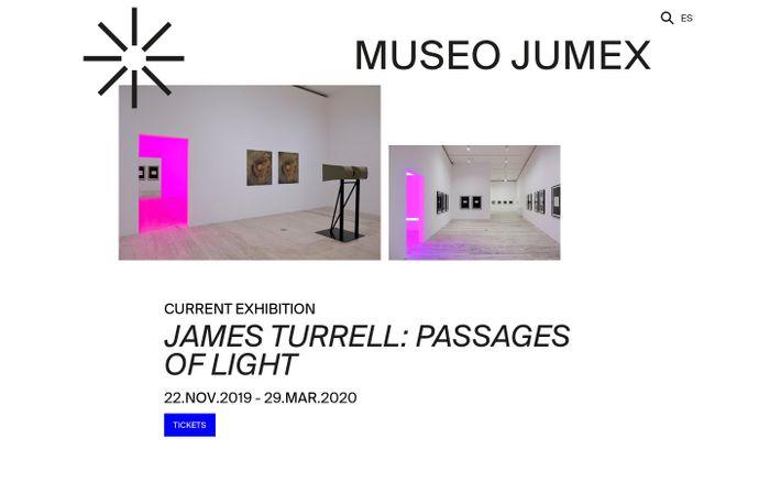 Screenshot of  Museo Jumex website