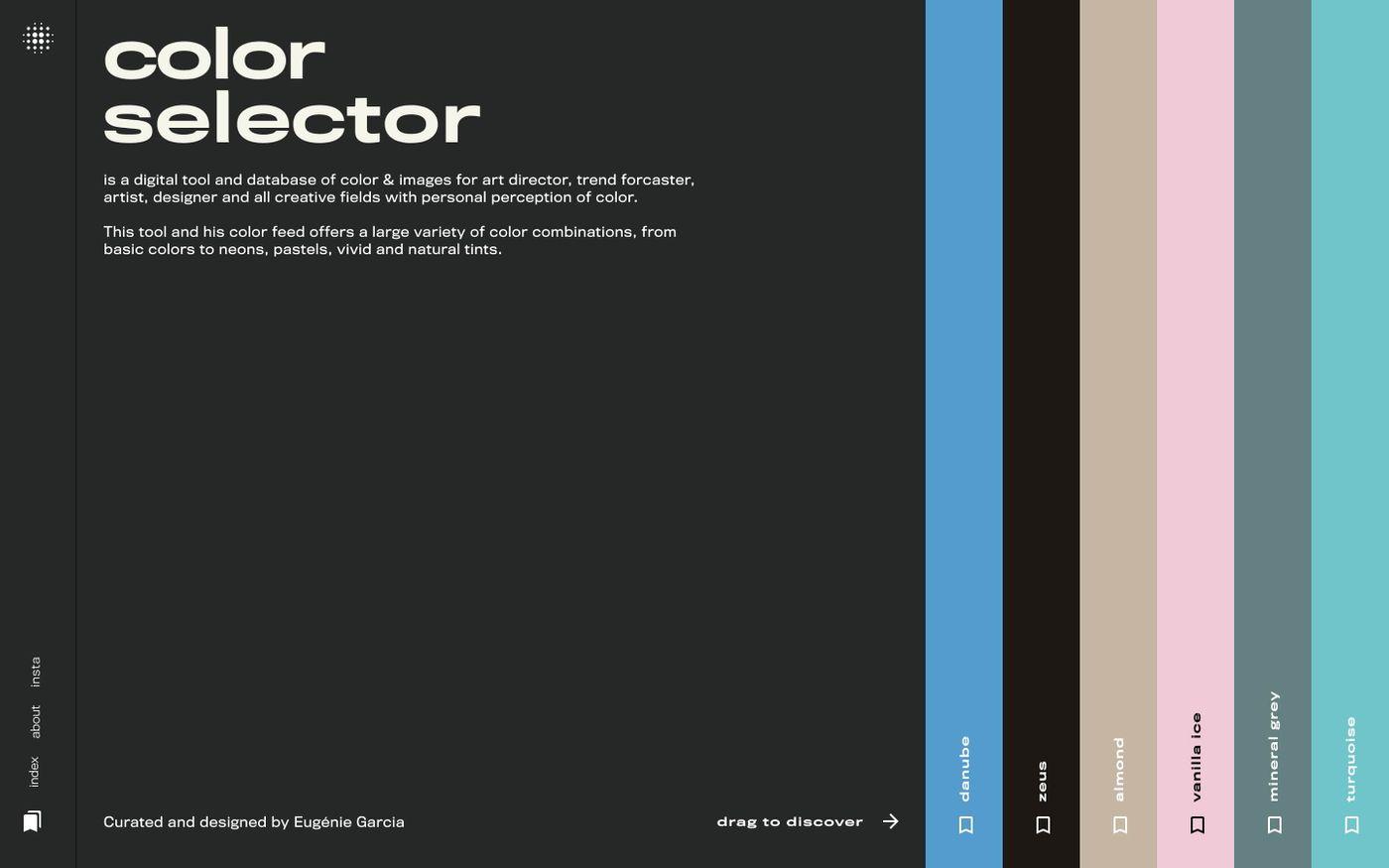 Screenshot of Color Selector website
