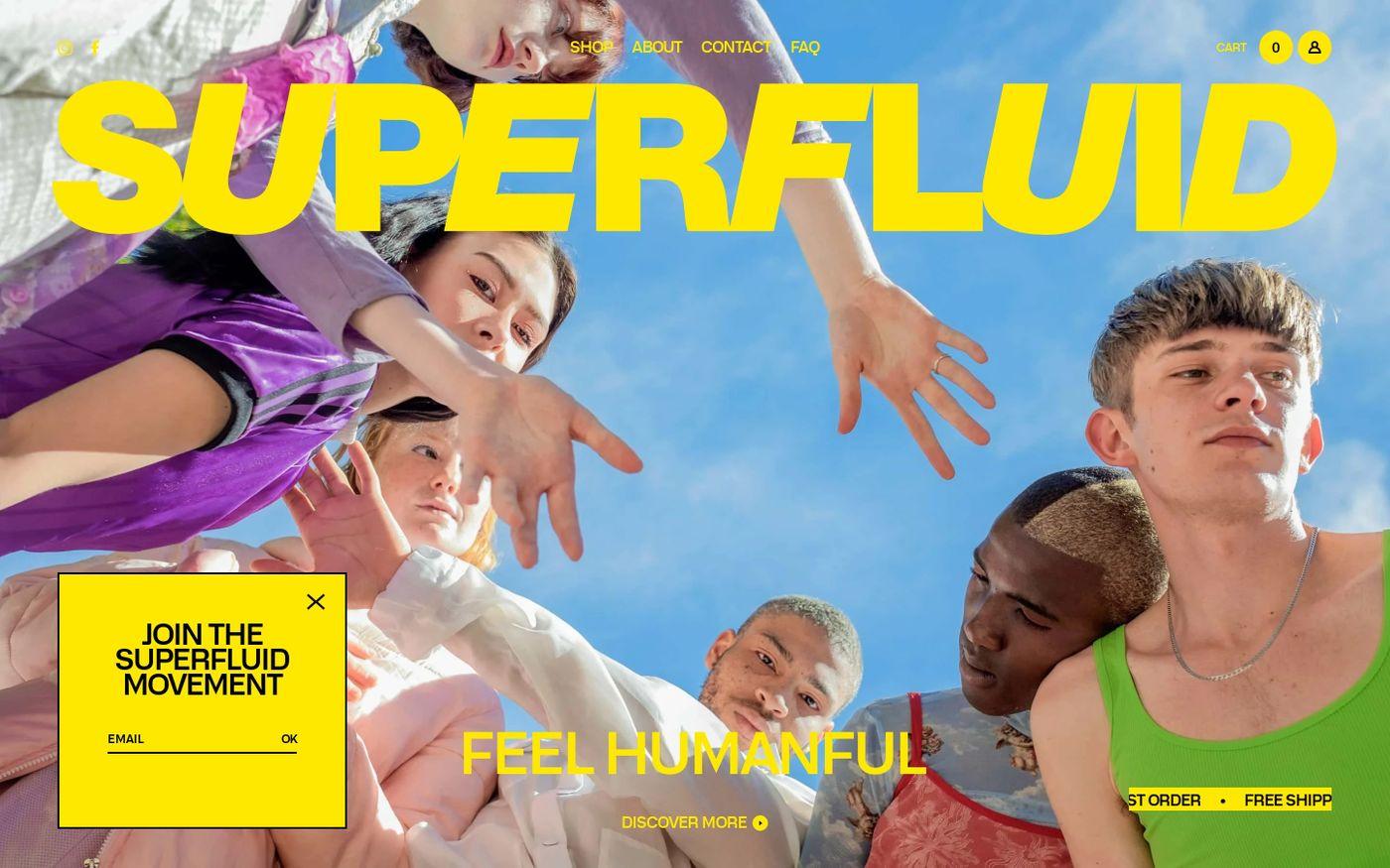 Screenshot of Superfluid website