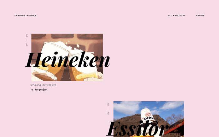 Screenshot of Sabrina Nedjah — All Projects