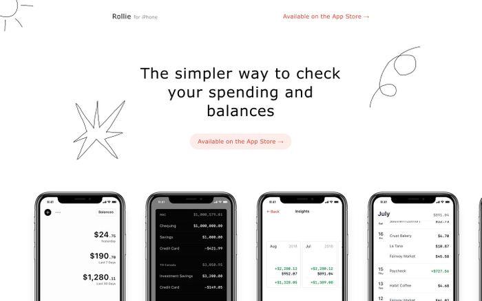 Screenshot of Rollie - Spending Tracker