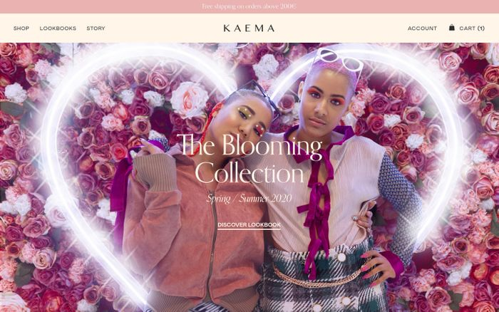Screenshot of Kaema Studio – Kaema is an Ethical Ivorian brand based in Paris
