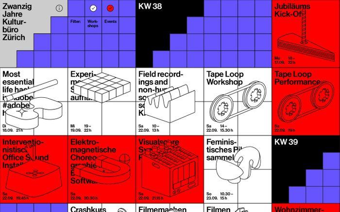 Screenshot of Zwanzig Jahre Kulturbüro Zürich