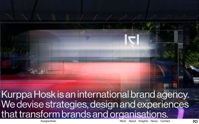 Screenshot of Kurppa Hosk - Design Agency Stockholm New York