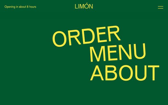 Screenshot of Limon website