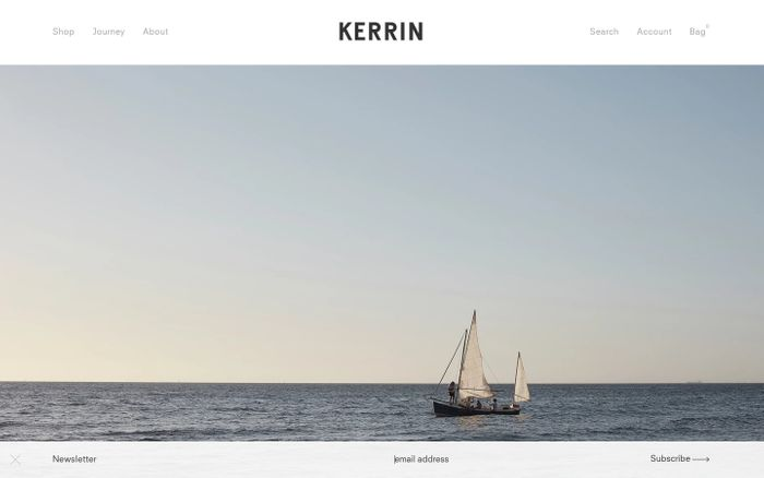 Screenshot of Kerrin — contemporary Australian menswear