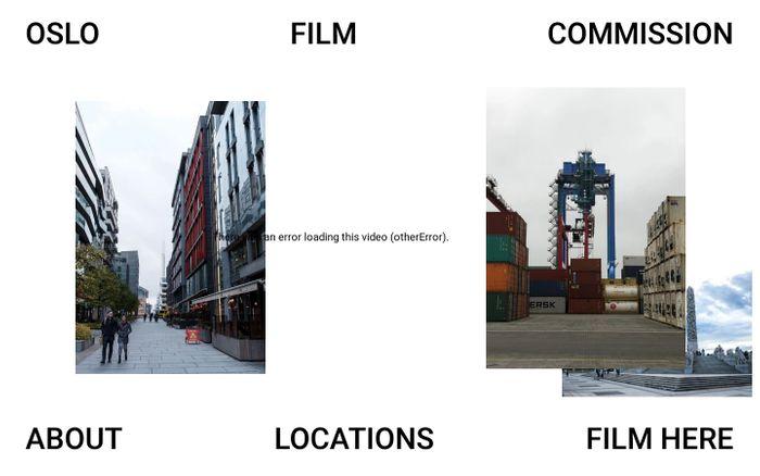 Screenshot of Oslo Filmkommisjon