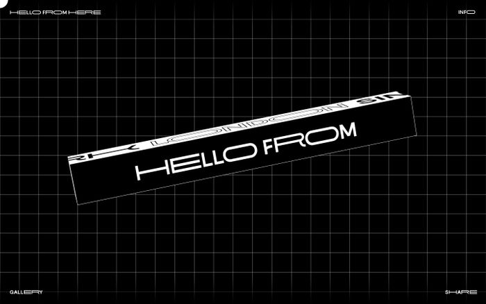 Screenshot of HERE⎵HELLO⎵FROM⎵