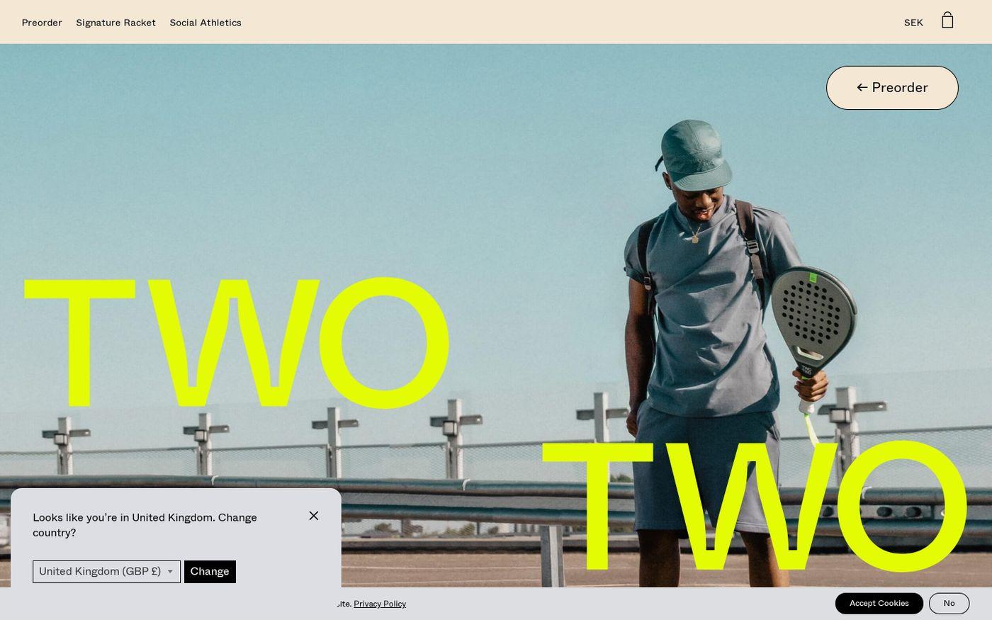 Screenshot of TwoTwo website