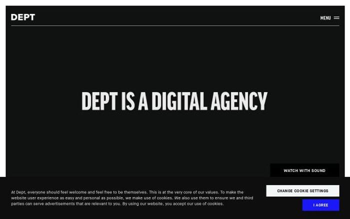 Screenshot of Deptagency website