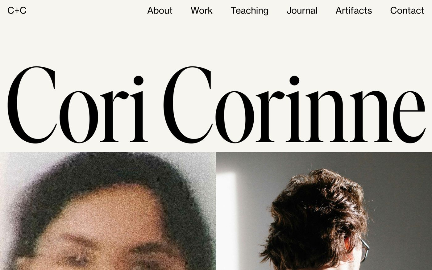 Screenshot of Corinne Cori website