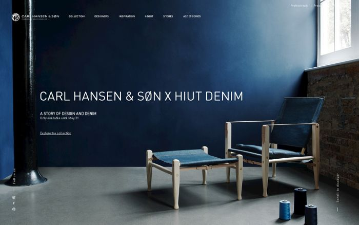 Screenshot of Danish design since 1908 - Carl Hansen & Søn