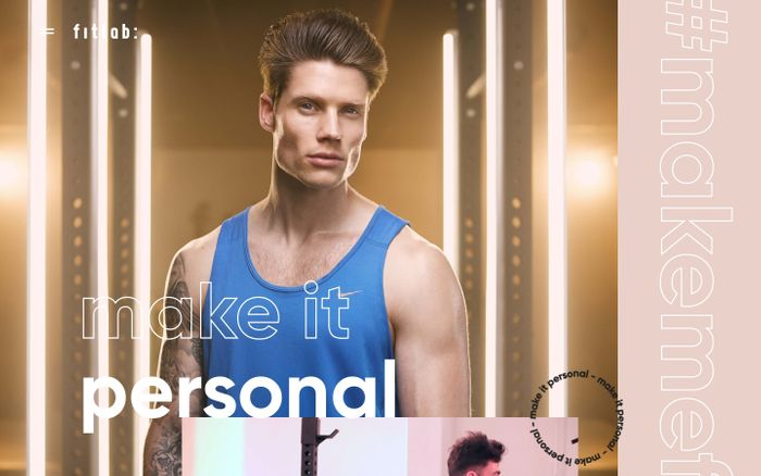 Screenshot of fitlab: personal training, lifestyle changing, exclusive gym. website
