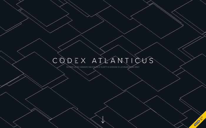 Screenshot of Codex Atlanticus