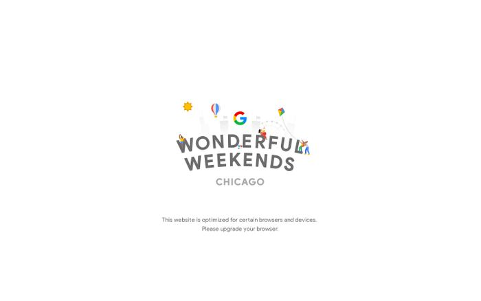 Screenshot of Wonderful Weekends | #withalittlehelp from Google