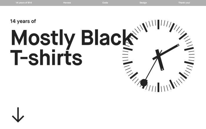 Screenshot of B14 14 Years website