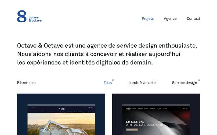 Screenshot of Octaveoctave website