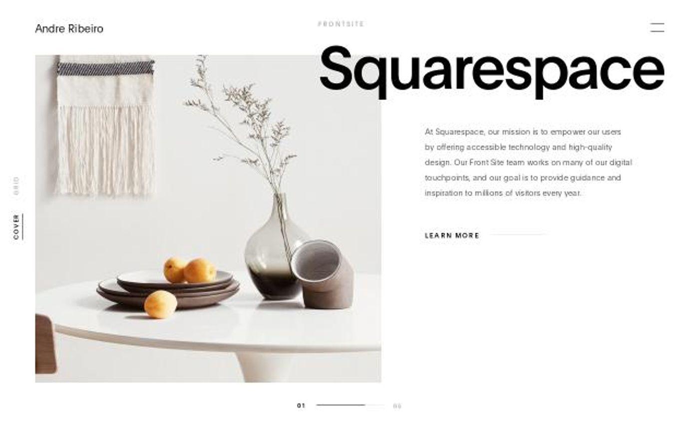 Screenshot of Andre Ribeiro website