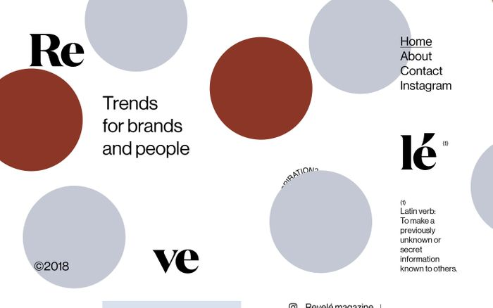 Screenshot of REVELÉ | Trends for brands and people