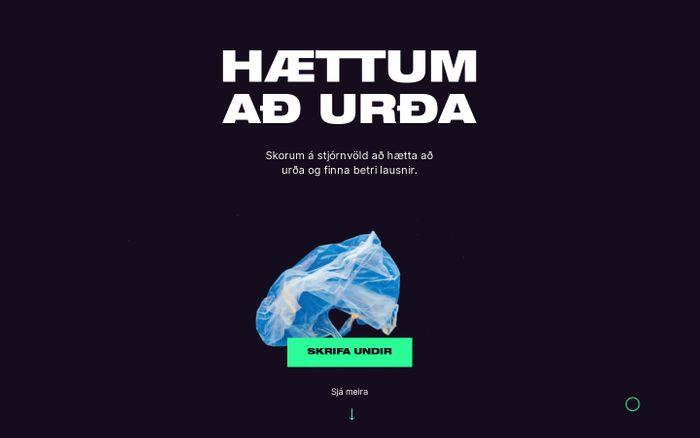 Screenshot of Hættum að urða!