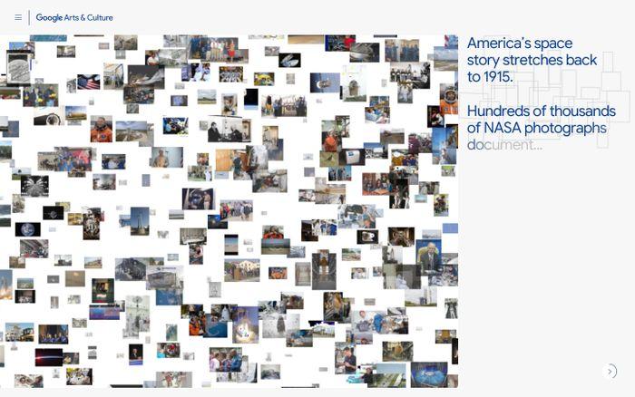 Screenshot of NASA's Visual Universe