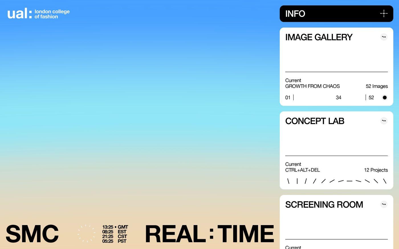 Screenshot of SMC Real-time website