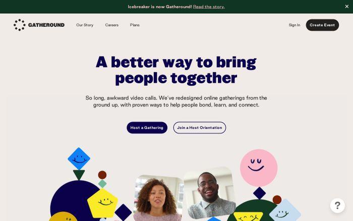 Screenshot of Gatheround website