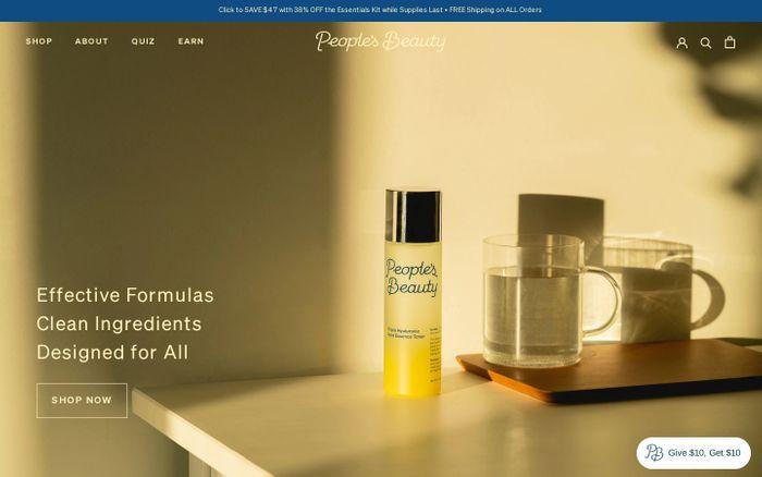 Screenshot of People's Beauty website
