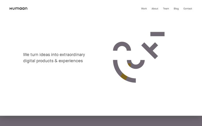 Screenshot of Humaan: World-class digital products for forward-thinking brands