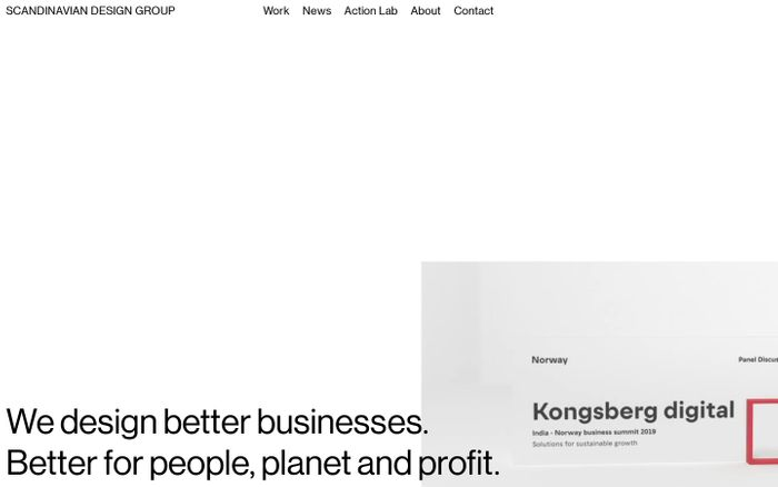 Screenshot of Scandinavian Design Group - Scandinavian Design Group