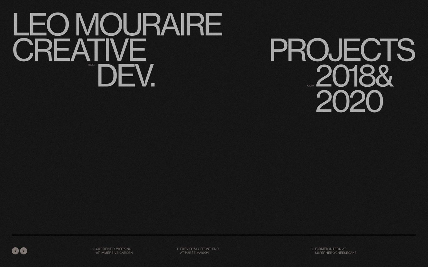 Screenshot of Leo Mouraire website