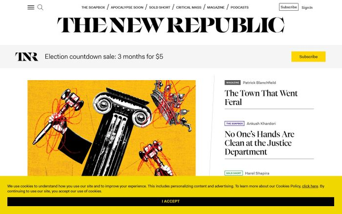 Screenshot of The New Republic