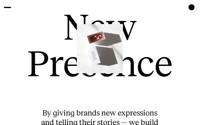 Screenshot of New Presence – Branding agency