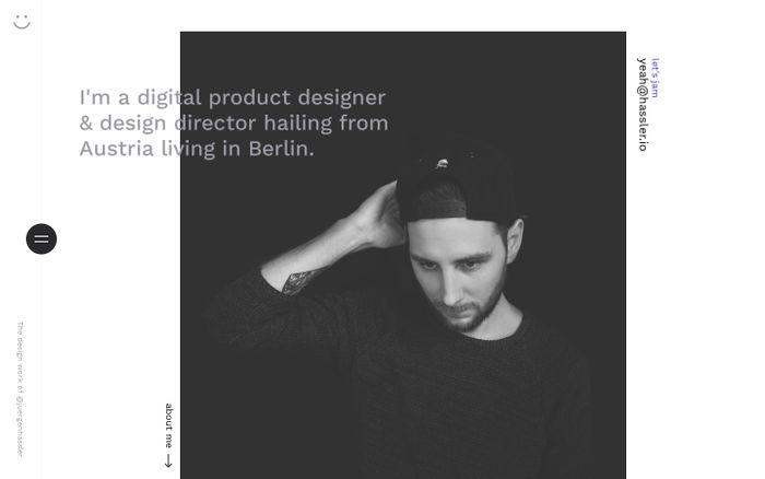 Screenshot of Jürgen Hassler - Digital Product Designer & Design Director