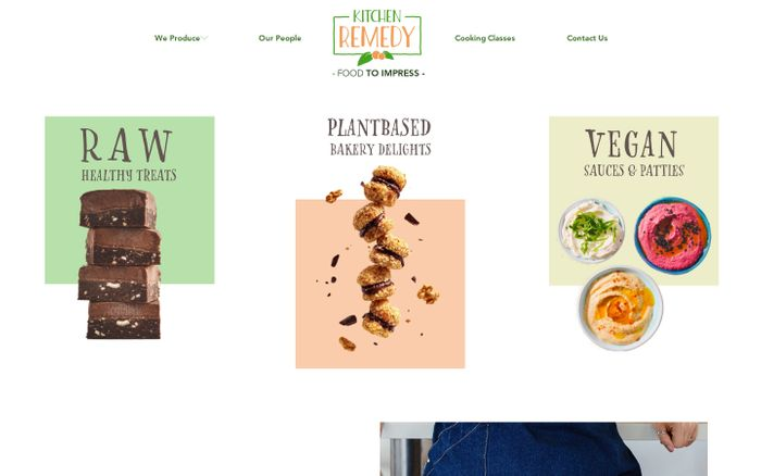 Screenshot of Kitchen Remedy | Vegan Wholesale Production | Brisbane