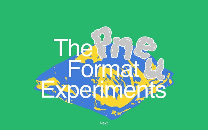 Screenshot of Pnue Format Experiments