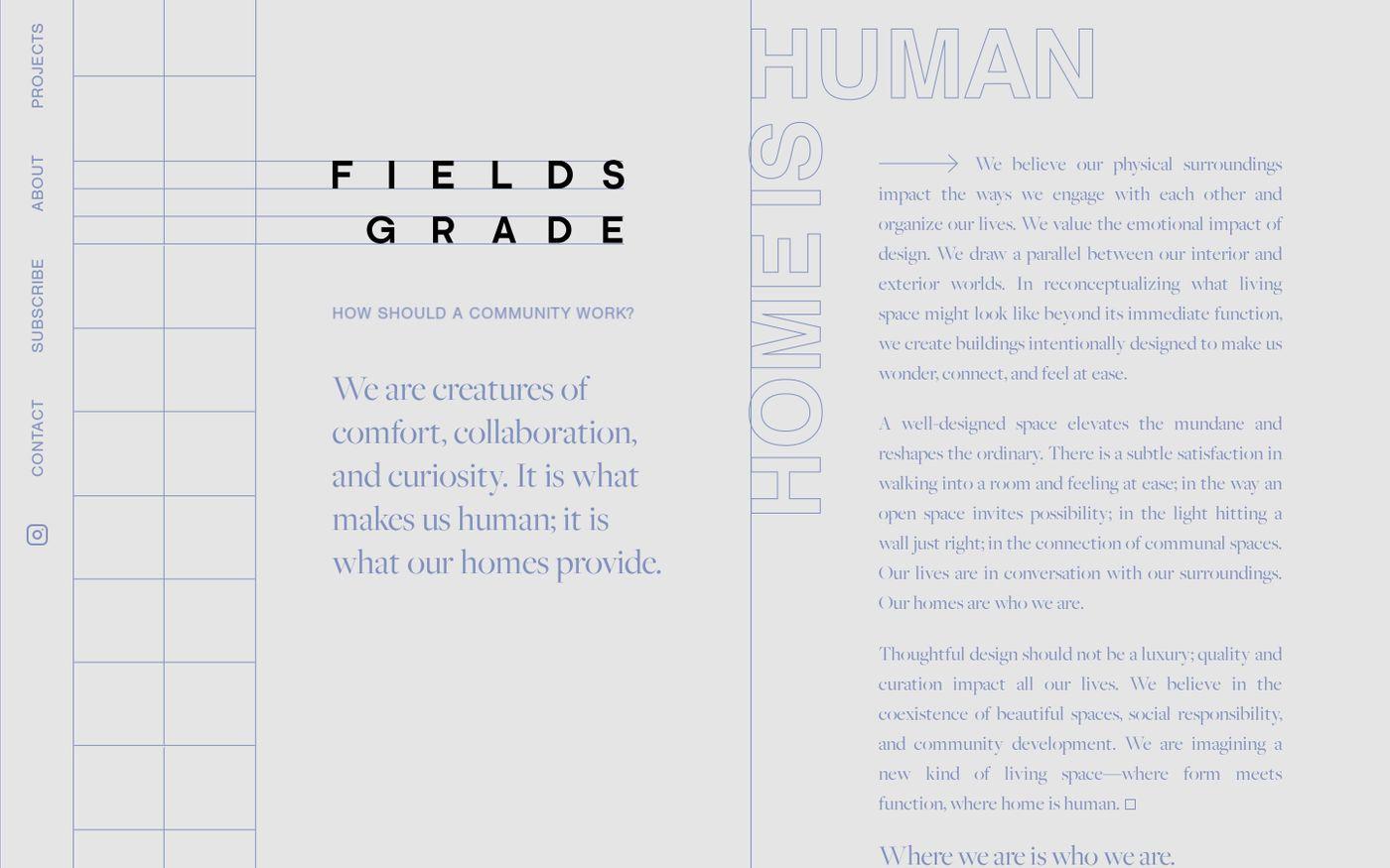 Screenshot of Fields Grade website