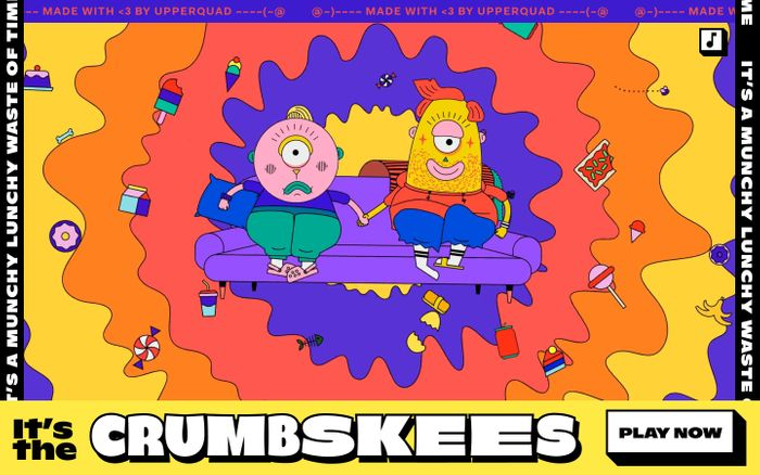 Screenshot of Crumbskees website