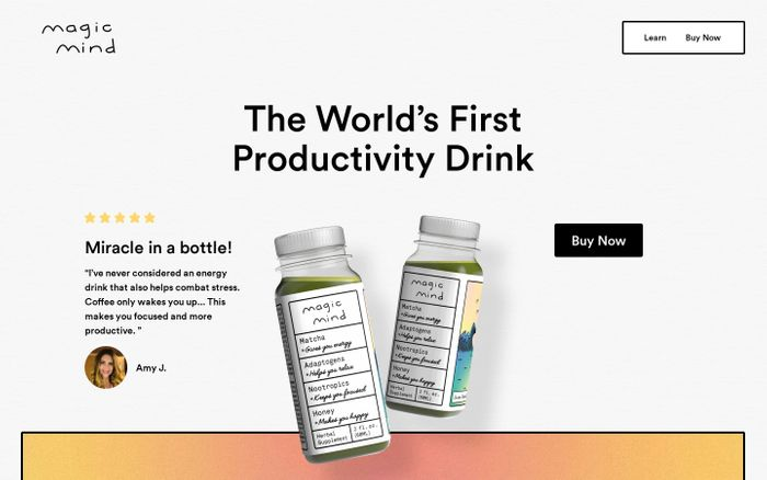 Screenshot of Magic Mind | The World's First Productivity Drink